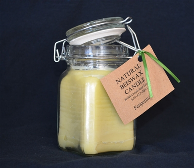 flip top beeswax jar candles