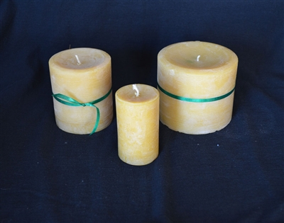 smooth pillar beeswax candles