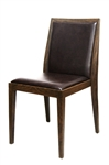 Wood Grain Metal Dining Chairs