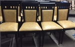 Ritz: Upscale Upholstered Restaurant Wood Dining Chair
