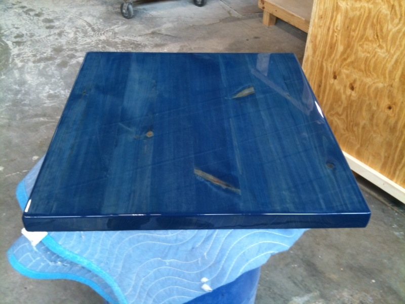 Colorful Epoxy Resin Tabletops