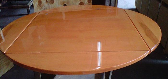 Drop Leaf Tabletop Custom Epoxy Resin Tabletops