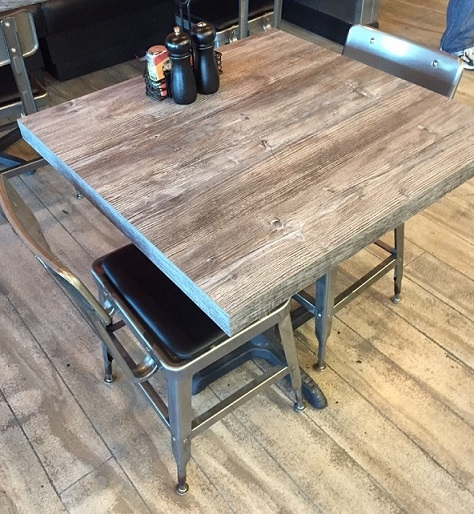 Laminate Rustic Restaurant Tabletops In Stock : 57 Driftwood Laminate 2 inch 2T from www.decormorehospitality.com size 474 x 514 jpeg 218kB