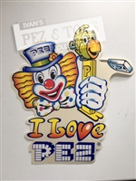 PEZ vintage car window sticker from 80's
