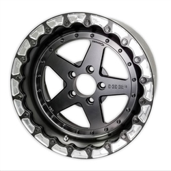 ***1 Pair In Stock Ready to Ship***HHP Ultra-Lite 3-Piece Bolted 17x10 Aluminum Rear Drag Rim, LX & LC Cars CLEAR-HHPDRAGR