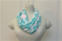 Aqua Chevron Ladies' Infinity Scarf