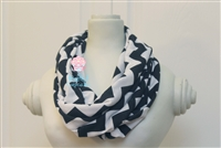 Black Chevron Ladies' Infinity Scarf
