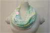Blue and Green Medallions Ladies' Infinity Scarf