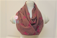 Chestnut With Fuchsia Deer Ladies' Infinity Scarf