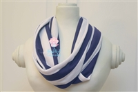 Dark Purple Stripe Ladies' Infinity Scarf