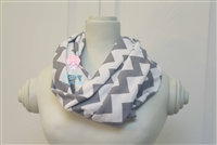 Gray Chevron Ladies' Infinity Scarf
