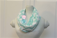 Mint Chevron Ladies' Infinity Scarf