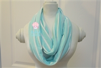 Mint and oatmeal ladies' infinity scarf.