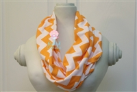 Orange Chevron Ladies' Infinity Scarf