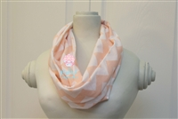 Peach Chevron Ladies' Infinity Scarf