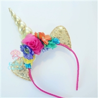 Unicorn horn in bright rainbow colors. Absolutely perfect for any little unicorn lover!