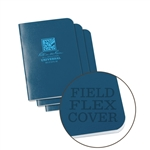 Rite in the Rain 271FX-M All-Weather Mini Stapled Notebook, Universal, Blue - 3 pack