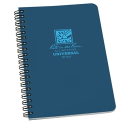 "Rite in the Rain 273 All-Weather Universal Polydura Spiral Notebook, Blue, 4 5/8"" x 7"""