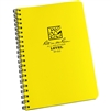 "Rite in the Rain 313 All-Weather Level Polydura Spiral Notebook, 4 5/8"" x 7"""