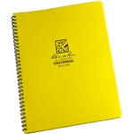 If you need a large format notebook, look no further. The All-Weather Maxi-Spiral Notebooks have strong Polydura covers, wire-o binding, and 84, 8 1/2 in x 11 in pages (42 sheets).