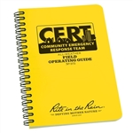 "Rite in the Rain 573 All-Weather CERT Field Operating Guide, 4 5/8"" x 7"""