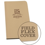 "Rite in the Rain 964T All-Weather Field-Flex Memo Book, Tan, 3.5"" x 6"""