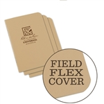 Rite in the Rain 971TFX-M All-Weather Mini Stapled Notebook, Universal, Tan - 3 pack