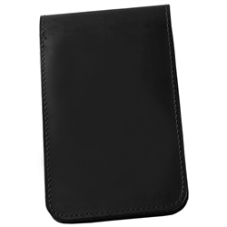 "RainWriter 33-S Black Soft Leather Top Spiral Notebook Cover, 3"" x 5"""