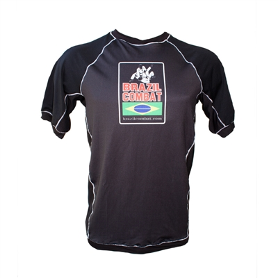 Ranked Short Sleeve Rash Guard Black