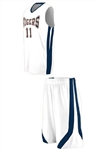 Basketball Game Uniform Combo Jersey and Shorts - Custom 1 Color Print