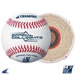 Champro Collegiate Specifications - Full Grain Leather Cover - Flat Seam