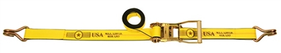 "2"" Ratchet Tie Down Strap with Wire Hooks"