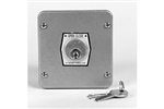 1KX-CC Commercial Door Medeco Key Switch with Center Return