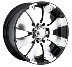"Hummer H3 Ultra Mako Black 17"" 17.00 x 8.00 Wheel  +10 Offset"