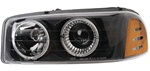 2000-2006 GMC Yukon Headlights, Black, by AnzoUSA