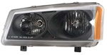2003-2006 Chevy Silverado Headlights, Black, by AnzoUSA