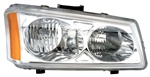 2003-2006 Chevy Silverado Headlights, Chrome, by AnzoUSA