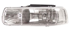 1999-2002 Chevy Silverado Headlights, Chrome, by AnzoUSA