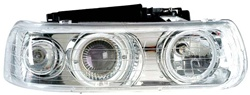 1999-2002 Chevy Silverado Headlights, Chrome Clear, by AnzoUSA