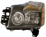 2004-2007 Nissan Titan Clear Headlights, Black, by AnzoUSA