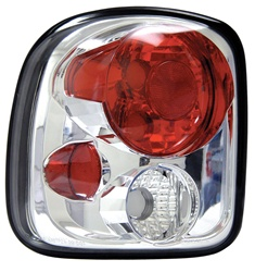 99-02 Silver Step-Side Tail Lamps, Chrome, by AnzoUSA