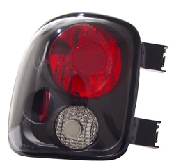 99-02 Silver Step-Side Tail Lamps, Black, by AnzoUSA