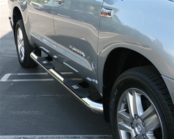"07-08 Tundra Big Step 4"" Round Stainless Side Bars by Aries"