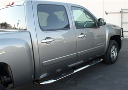 "99-08 Silverado/Sierra/Yukon/Suburban/Heavy Duty 4"" Deluxe Oval Side Bars by Aries"