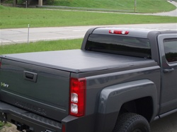 "Hummer H3T HardHat Premier Hard Folding Tonneau Cover with ""Ragtop"" Look by Advantage Truck Accessories"