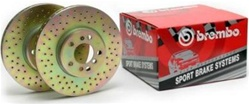 Hummer H2 Drilled Rotors Factory Replacement Front By Brembo - Set of 2