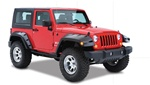 07-08 Jeep Wrangler Jk Pocket Style Fender Flare by Bushwacker