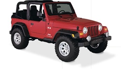 "97-06 Jeep Wrangler Pocket Style Fender Flares (6"") by Bushwacker"