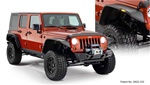 07-Up Jeep Wrangler Jk 4 Door Flat Style Fender Flare by Bushwacker
