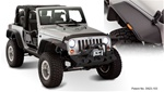 07-Up Jeep Wrangler Jk Flat Style Fender Flare by Bushwacker